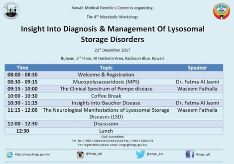 4th Metabolic disorders Workshop